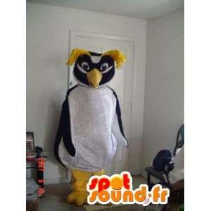Kostým bílá a žlutá černá tučňáka - Tučňák kostým
