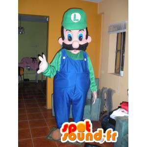 Luigi mascot, a friend of Mario green and blue - Disguise Luigi