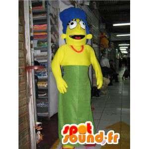 Mascote dos desenhos animados Marge Simpson - Marge Disfarce