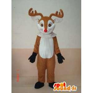 Mascot Deer wood - Eläinten Costume pois metsästä  - MASFR00176 - Stag ja Doe Mascots