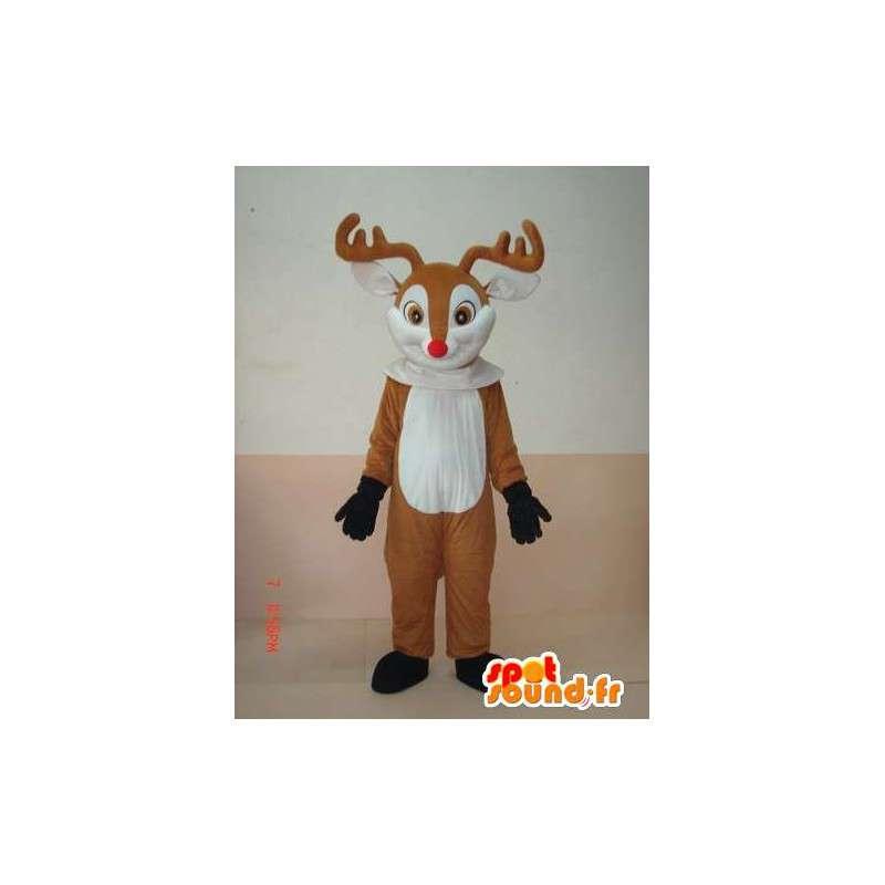 Mascotte Kite Holz - Tierkostüm aus dem Wald - MASFR00176 - Maskottchen Hirsch und DOE