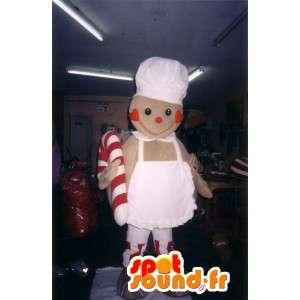 Mascotte a forma di biscotto cuoco - Disguise biscotto - MASFR002782 - Mascotte della pasticceria