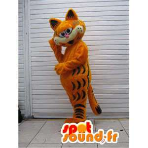 Mascotte Garfield célèbre chat de dessin animé - Costume Garfield
