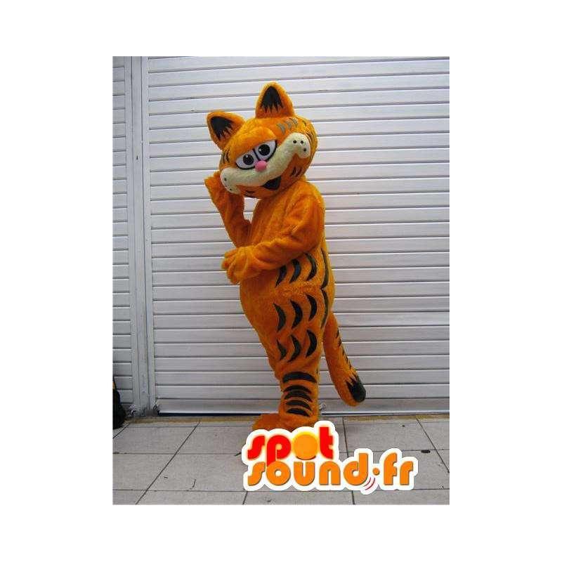 Mascotte Garfield célèbre chat de dessin animé - Costume Garfield - MASFR002785 - Mascottes Garfield