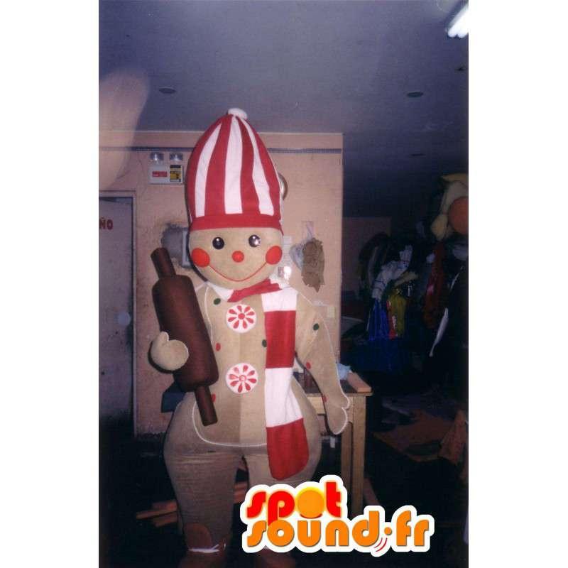 Mascotte a forma di biscotto cuoco - Disguise biscotto - MASFR002787 - Mascotte della pasticceria