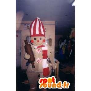 Vormige mascotte koken koekje - koekje kostuum - MASFR002787 - mascottes gebak