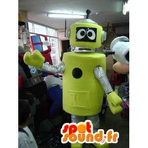 黄色いロボットマスコット-黄色いロボットコスチューム-MASFR002788-ロボットマスコット