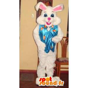 Konijn mascotte reuze teddy - wit konijn kostuum - MASFR002790 - Mascot konijnen