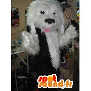 Maskot hvit utstoppet hund - hund drakt ruffled - MASFR002793 - Dog Maskoter