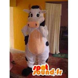 黒と白の牛のマスコット-牛の衣装-MASFR002796-牛のマスコット