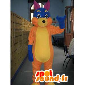 Veelkleurige reuzekonijn mascotte - Bunny Costume - MASFR002806 - Mascot konijnen