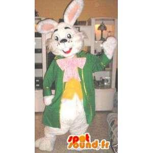 Kanin maskot i grønt kostume - plys bunny kostume - Spotsound