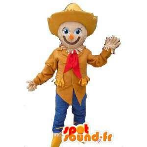 帽子をかかしのマスコット-かかしの衣装-MASFR002810-家畜