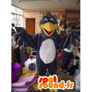Mascot avvoltoio gigante grigio e bianco - Disguise Uccello - MASFR002812 - Mascotte degli uccelli