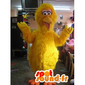 Yellow canary mascot all hairy - Disguise giant bird - MASFR002815 - Mascot of birds