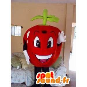 Maskot i form af en kæmpe rød kirsebær - Kirsebær kostume -
