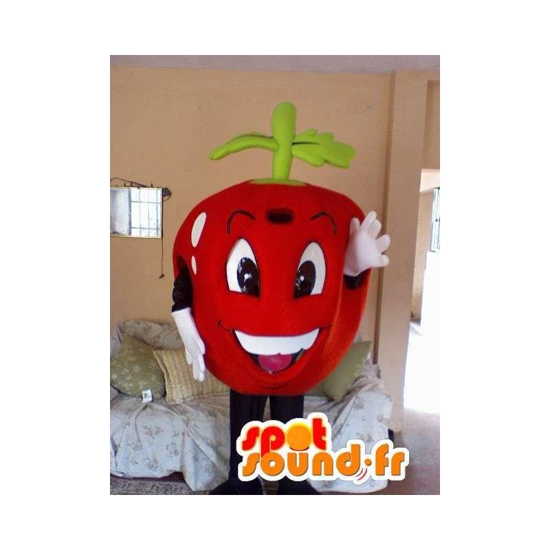 Mascot shaped cherry red giant - Costume Cherry - MASFR002817 - Fruit mascot