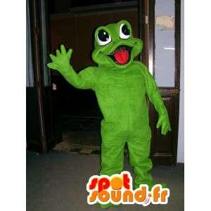 Mascot riesigen grünen Frosch - Frosch-Kostüm - MASFR002819 - Maskottchen-Frosch
