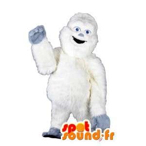 Giant valkoinen gorilla maskotti kaikki karvainen - Puku Yeti