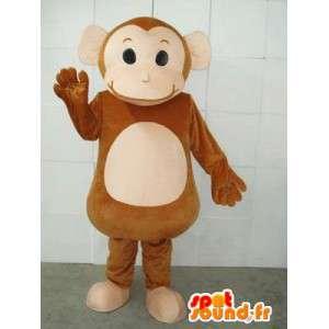 Monkey maskot Circus og cymbaler - Fair Animal Costume