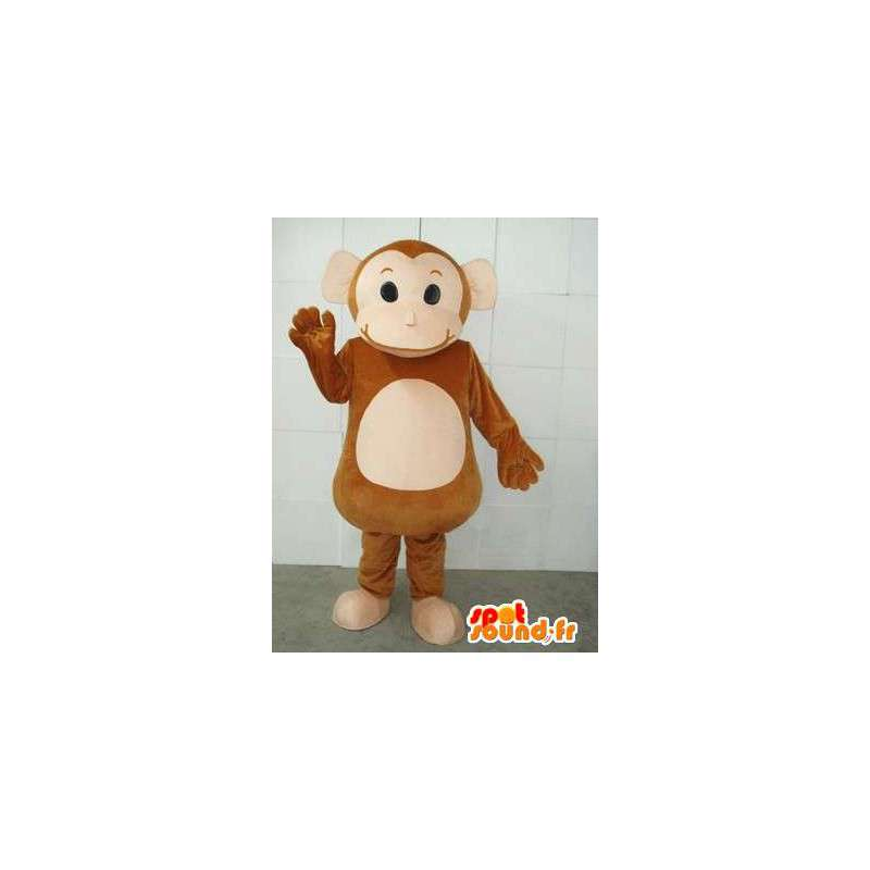 Circus Monkey mascot and cymbals - Costume zoo animal - MASFR00231 - Mascots monkey