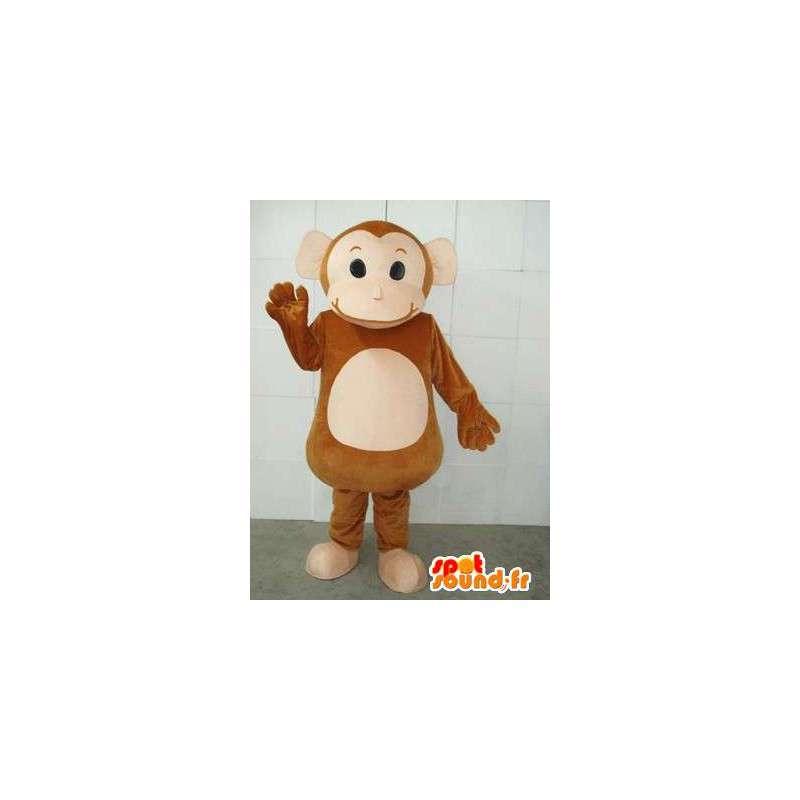 Mascotte Singe de Cirque et cymbales - Costume animal de foire - MASFR00231 - Mascottes Singe