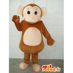 Circo scimmia mascotte e piatti - animale, zoo, Costume - MASFR00231 - Scimmia mascotte