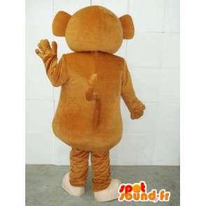 Mascot mono del circo y platillos - Animal Fair vestuario - MASFR00231 - Mono de mascotas
