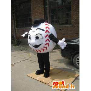 Maskottchen-Ball-Base-Ball - Kostüm Mann Baseball - MASFR00221 - Menschliche Maskottchen