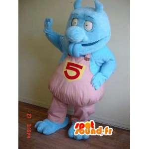 Blue Monster-Maskottchen Plüsch - Blaue Monster-Kostüm - MASFR002914 - Monster-Maskottchen