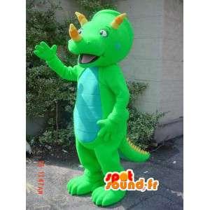 Fluorescent grüne Dinosaurier-Maskottchen - Dinosaurier-Kostüm - MASFR002915 - Maskottchen-Dinosaurier