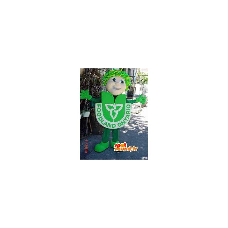 Snowman Mascot grønn drakt - mann Costume - MASFR002920 - Man Maskoter