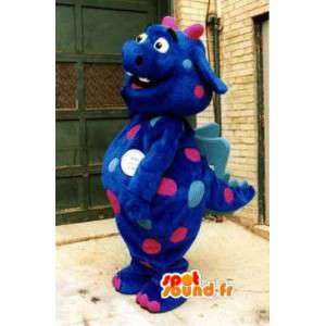 Blue Dragon Mascot - Costume blue dinosaur - MASFR002921 - Dragon mascot