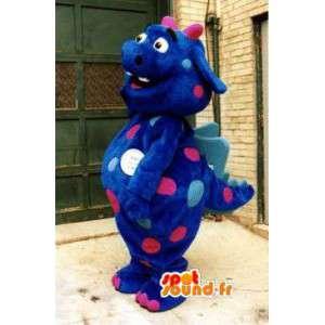 Mascotte de dragon bleu - Costume de dinosaure bleu - MASFR002921 - Mascotte de dragon