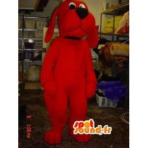 Röd hundmaskot - Röd jättehunddräkt - Spotsound maskot