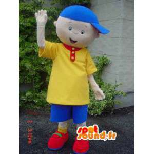 Mascot child with his yellow and blue outfit and hat - MASFR002924 - Mascots child