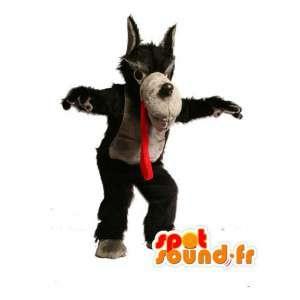 Maskotti iso paha susi - paha susi puku - MASFR002930 - Wolf Maskotteja