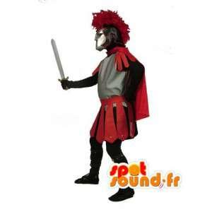Mascotte de gladiateur avec sa tenue traditionnelle
