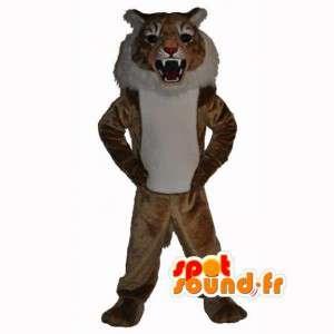 Maskottchen-braun ausgestopften Tiger - Tigerkostüm - MASFR002951 - Tiger Maskottchen