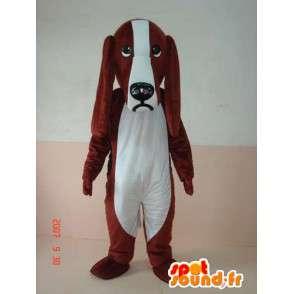 Maskotti iso korva koira puku - Basset Hound - Cocker - MASFR00236 - koira Maskotteja