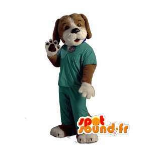 Hundmaskot klädd som sjuksköterska - Hunddräkt - Spotsound