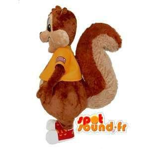 Eekhoorn mascotte met een geel overhemd - Squirrel Suit - MASFR002958 - mascottes Squirrel