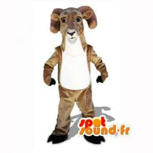 ピレネーヤギのマスコット-ブラウンラムコスチューム-MASFR002981-ヤギとヤギのマスコット