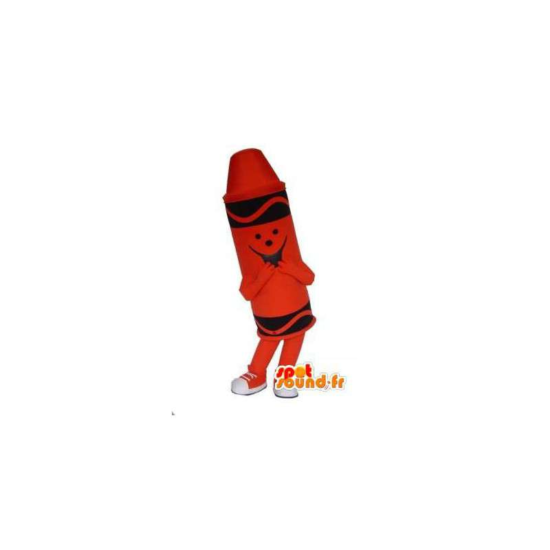 Pastello rosso mascotte - Costume rosso pastello matita - MASFR002983 - Matita mascotte