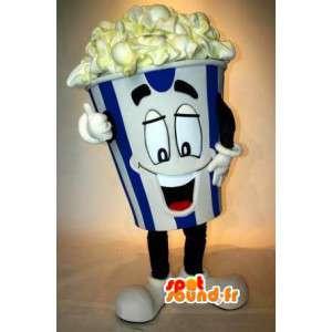 Popcorn maskot - film popcorn Disguise