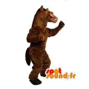 非常にリアルな茶色の馬のマスコット-馬のコスチューム-MASFR002987-馬のマスコット