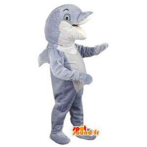 イルカのマスコットフリッパー-灰色のイルカのコスチューム-MASFR002998-イルカのマスコット