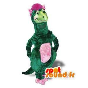 Maskotti vihreää ja vaaleanpunaista dinosaurus - Dinosaur Costume - MASFR003000 - Dinosaur Mascot