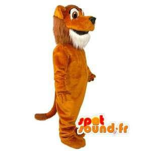 Pomarańczowy Pies Maskotka pluszowa - Dog Costume - MASFR003004 - dog Maskotki