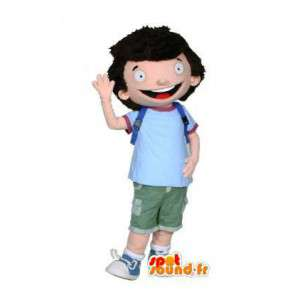 Mascot Schüler mit seinen Ranzen - Kinderkostüm - MASFR003011 - Maskottchen-Kind